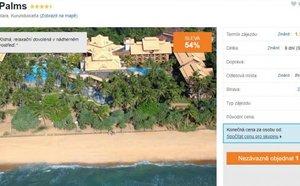 Srí Lanka z Prahy na 8 dní se snídaní v 5* hotelu za 24 818 Kč! Sleva 54%!
