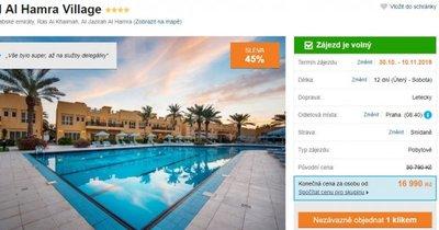 Spojené arabské emiráty z Prahy na 12 dní se snídaní v 4* hotelu za 16 990 Kč! Sleva 45 %!