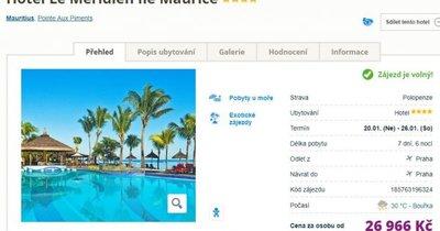 Mauritius z Prahy v 4* hotelu na 7 dní s polopenzí za 26 966 Kč!