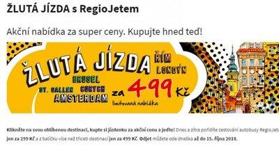 Regiojet: akční jízdenky autobusů po celé Evropě od 299 Kč! Akce platí do 14.9.!