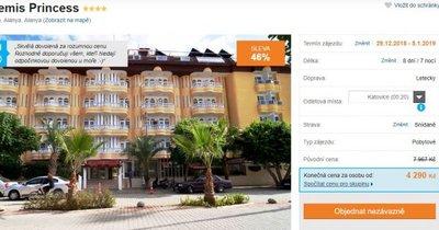Turecko z Katovic na Silvestra na 8 dní ve 4* hotelu za 4 290 Kč! Sleva 46 %!