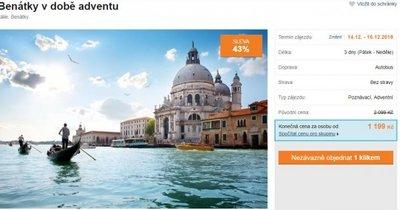 Autobusem do Benátek na Vánoční trhy za 1 199 Kč! Sleva 43 %!