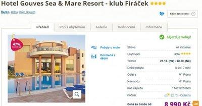 Kréta z Prahy ve 4* hotelu na 8 dní s All Inclusive za 8 990 Kč! Sleva 47 %!