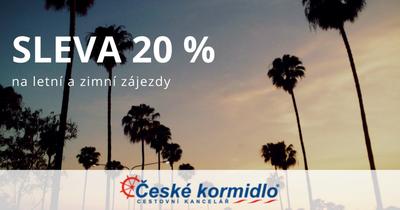 Sleva 20 % na letní a zimní dovolené od CK České kormidlo
