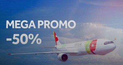 Báječná sleva 50% na všechny lety s TAP Portugal!