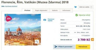 Poznávací autobusový zájezd do Říma, Vatikánu a Florencie na 5 dní za 3 799 Kč! Sleva 49 %!