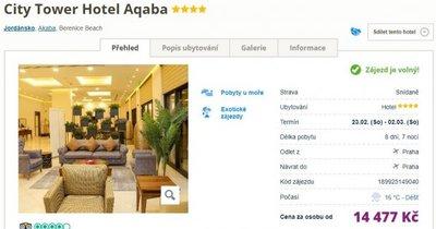 Jordánsko z Prahy na 8 dní v 4* hotelu se snídaní za 14 477 Kč!
