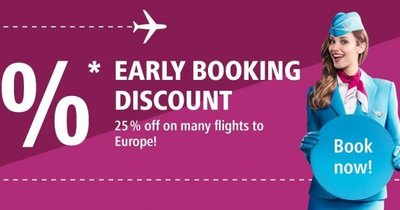 Eurowings -  slevy 25 % na vybrané lety!