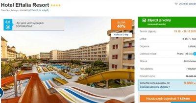Turecko z Prahy v 4* hotelu s vlastním aquaparkem a All Inclusive za 9 880 Kč!
