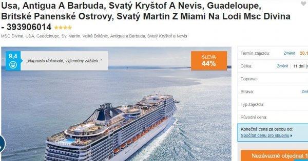 Plavba lodí na 11 dní z Miami na Panenské ostrovy, Svatý Martin, Guadeloupe aj. za 13 540 Kč!