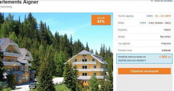 4 dny v Rakousku u sjezdovek v apartmánu za 1600 Kč! Sleva 43 %!