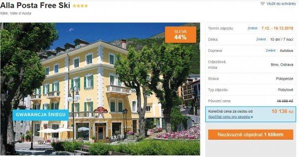 Lyžařský autobusový zájezd: 10 dní/7 nocí v Itálii s polopenzí a se skipasem v ceně! Sleva 44 %!