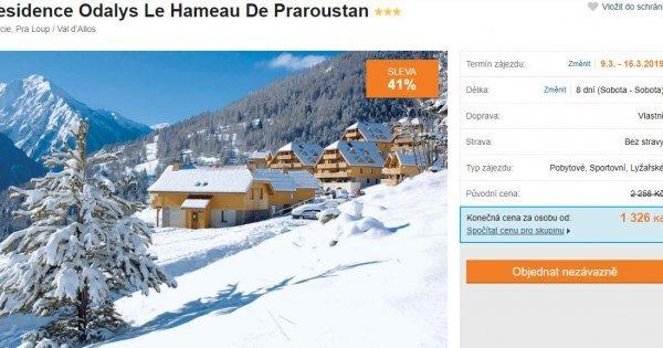 Francouzské Alpy na 8 dní v březnu za 1 326 Kč! Sleva 41 %!