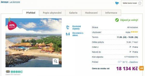 Exotický Senegal z Prahy na 9 dní s All Inclusive za 18 134 Kč! Sleva 43 %!