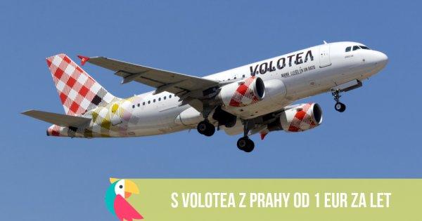 S Volotea z Prahy od 1 EUR za let!