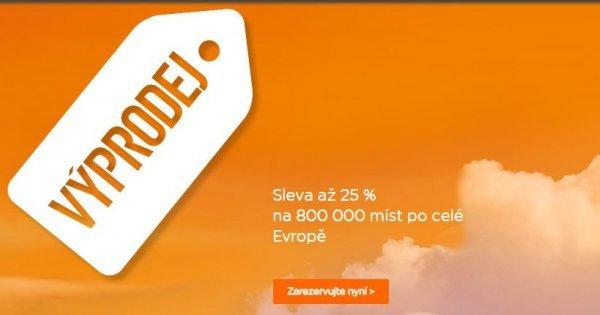 EasyJet vyprodává letenky se slevou 25 %!