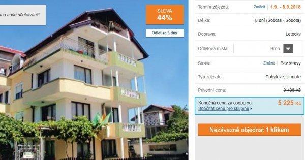 Bulharsko z Brna: Slunečné pobřeží za 5225 Kč - sleva 44%