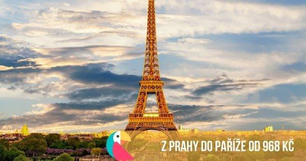 Na nové lince z Prahy do Paříže od 968 Kč