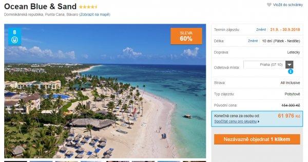 Dominikánská republika z Prahy na 10 dní s All inclusive za 61 976 Kč, sleva 60 %