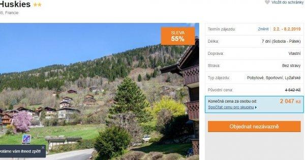 Francouzské Alpy na 7 dní za 2 047 Kč! Sleva 55 %!