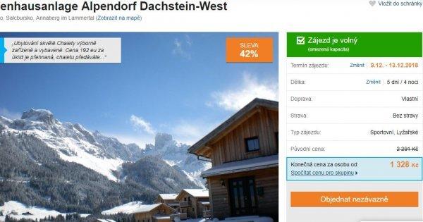 Za lyžováním na Dachstein do Rakouska a do Hallstattu na 5 dní za 1 328 Kč! Sleva 42 %!