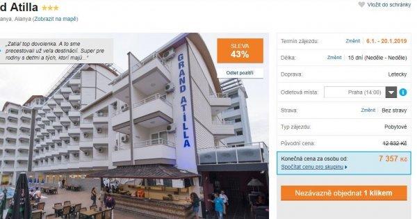 Turecko z Prahy na 15 dní za 7 357 Kč! Sleva 43 %!