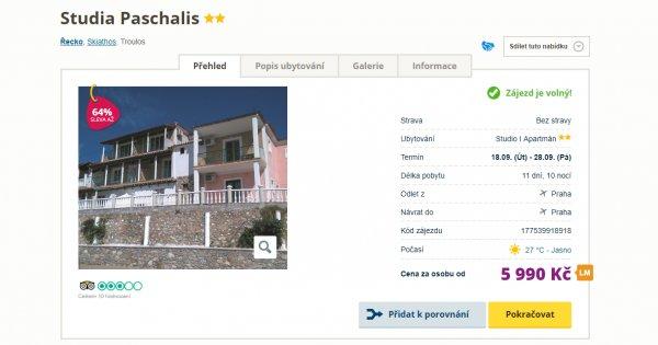 Řecko z Prahy na 11 dní za 5 990 Kč, sleva 64 %