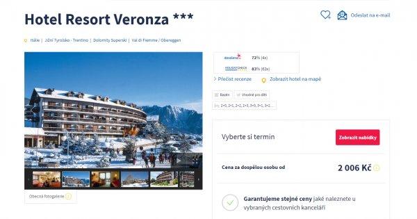 Lednová lyžovačka v Dolomitech na 4 dny za 2 006 Kč