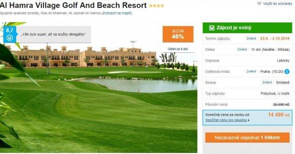 Spojené arabské emiráty z Prahy na 11 dní se snídaní + výlety do Dubaje za 14 490 Kč! Sleva 46 %!