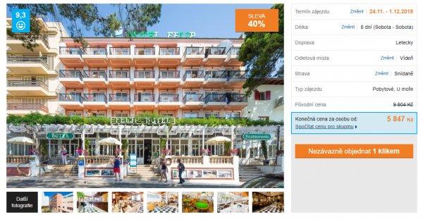 Mallorca z Vídně na 8 dní se snídaněmi za 5 847 Kč, sleva 40 %