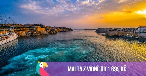 Malta z Vídně během jara i léta od 1 699 Kč