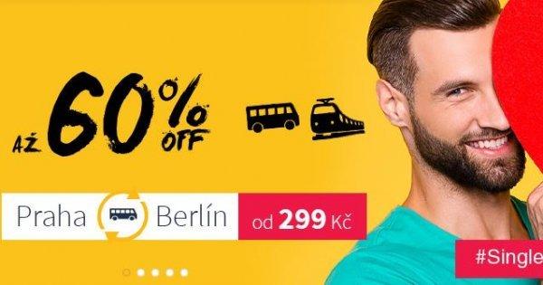 Single Valentýn s RegioJet: více než 60 evropských destinací za výhodné ceny pro single cestovatele!