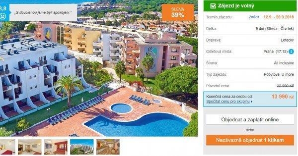 Portugalsko z Prahy v apartmánech na 9 dní s All Inclusive za 13 990 Kč! Sleva 39 %!