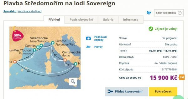 Plavba luxusní lodí na 8 dní s All Inclusive: Španělsko, Francie a Itálie za 15 900 Kč! Sleva 58 %!