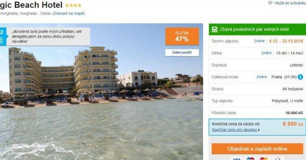 Egypt z Prahy na 15 dní před Vánoci s All Inclusive za 8 990 Kč! Sleva 47 %!