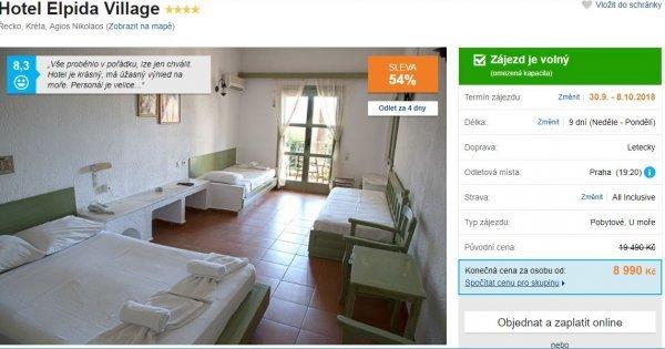 Kréta z Prahy: 4* hotel na 9 dní s All Inclusive za 8 990 Kč! Sleva 54 %!