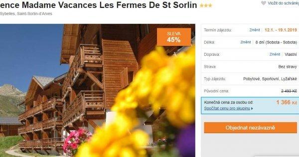 Francouzské Alpy na 8 dní v apartmánu za 1 366 Kč! Sleva 45 %!