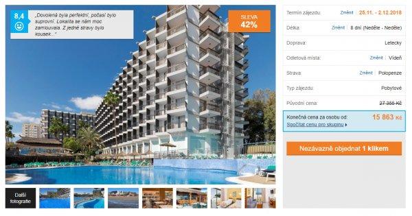 Gran Canaria z Vídně na 8 dní s polopenzí za 15 863 Kč, sleva 42 %
