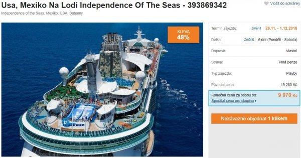 Dovolená na luxusní lodi v USA, Mexiku a Bahamách: 6 dní, plná penze za 9 970 Kč! Sleva 48 %!