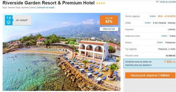 Severní Kypr: 4* hotel z Prahy na 8 dní s polopenzí za 7 825 Kč! Sleva 42 %!