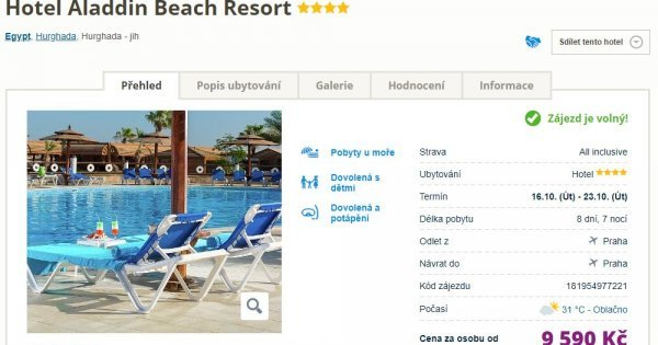 Egypt z Prahy na 8 dní s All Inclusive za 9 590 Kč se vstupem do aquaparku! Sleva 51 %!