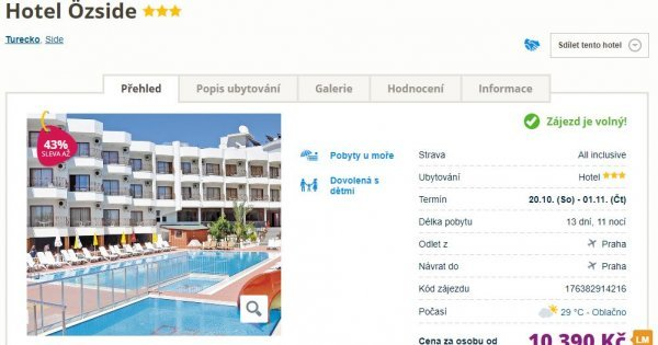 Tunisko z Prahy na 16 dní s All Inclusive za 9 190 Kč! Sleva 41 %!