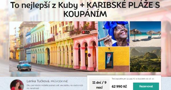 Na Kubu za poznáním, 11 dní, plná penze, 62 990 Kč