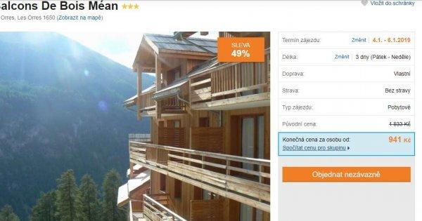 Francouzské Alpy na 3 dny za 941 Kč! Sleva 49 %!