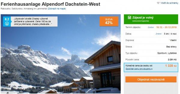 Rakouské Alpy v apartmánu na 5 dní za 1 328 Kč! Sleva 42 %!