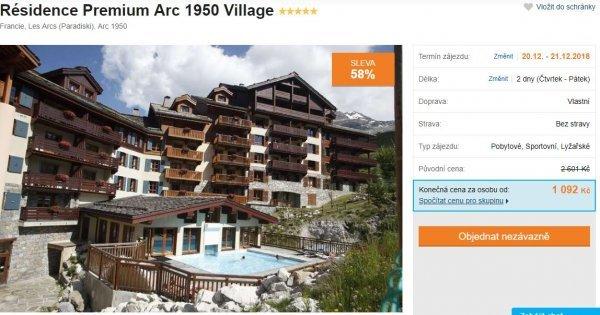 Francouzské Alpy: 5* hotel na dva dny s venkovním vyhřívaným bazénem u sjezdovky! Sleva 58 %!