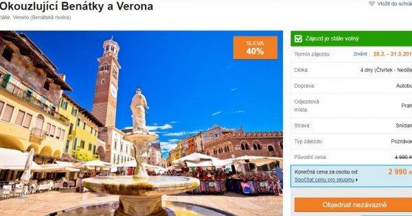 Autobusem do Benátek a Verony na 4 dny za 2 990 Kč! Sleva 40 %!