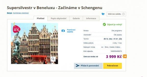 Silvestr a 5 měst Beneluxu na 4 dny za 3 999 Kč, sleva 43 %