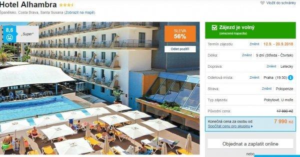 Španělsko: Costa Brava na 9 dní s polopenzí za 7 990 Kč! Sleva 56 %!