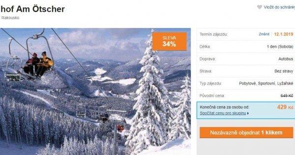 Jednodenní lyžování v Rakousku s autobusovou dopravou za 429 Kč! Navíc sleva na skipas!